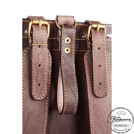 """Мужской кожаный рюкзак """"Легион"""" (коричневый) - 25"""