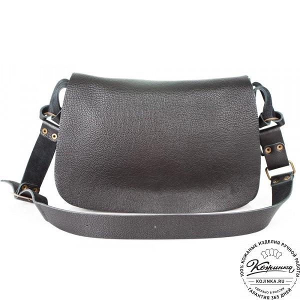 """Женская кожаная сумка """"Комильфо"""" (черная). фото 1"""