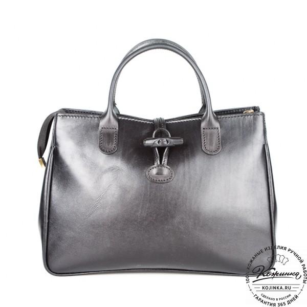 """Женская кожаная сумка """"Шампань"""" (черная). фото 1"""