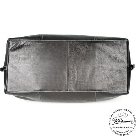 Кожаная дорожная сумка (чёрная) - 8