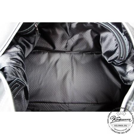 Кожаная дорожная сумка (чёрная) - 5