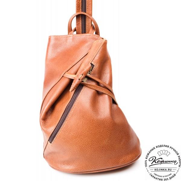"""Женский кожаный рюкзак """"Венеция"""" (коричневый). фото 1"""