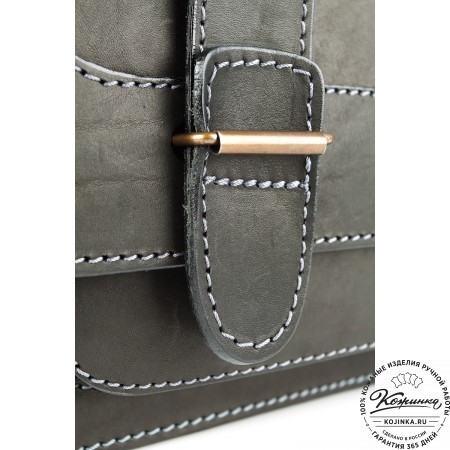 """Кожаный портфель """"Француз"""" (черный)"""