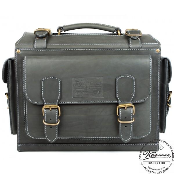 """Кожаный портфель """"Бойскаут"""" (чёрный). фото 1"""