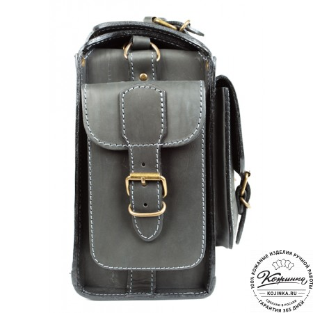 """Кожаный портфель """"Бойскаут"""" (чёрный) - 10"""