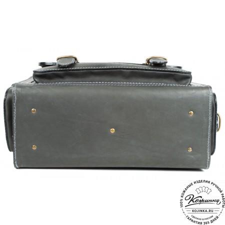 """Кожаный портфель """"Бойскаут"""" (чёрный) - 9"""