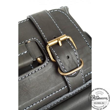 """Кожаный портфель """"Бойскаут"""" (чёрный) - 8"""