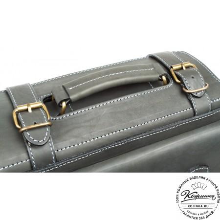 """Кожаный портфель """"Бойскаут"""" (чёрный) - 7"""