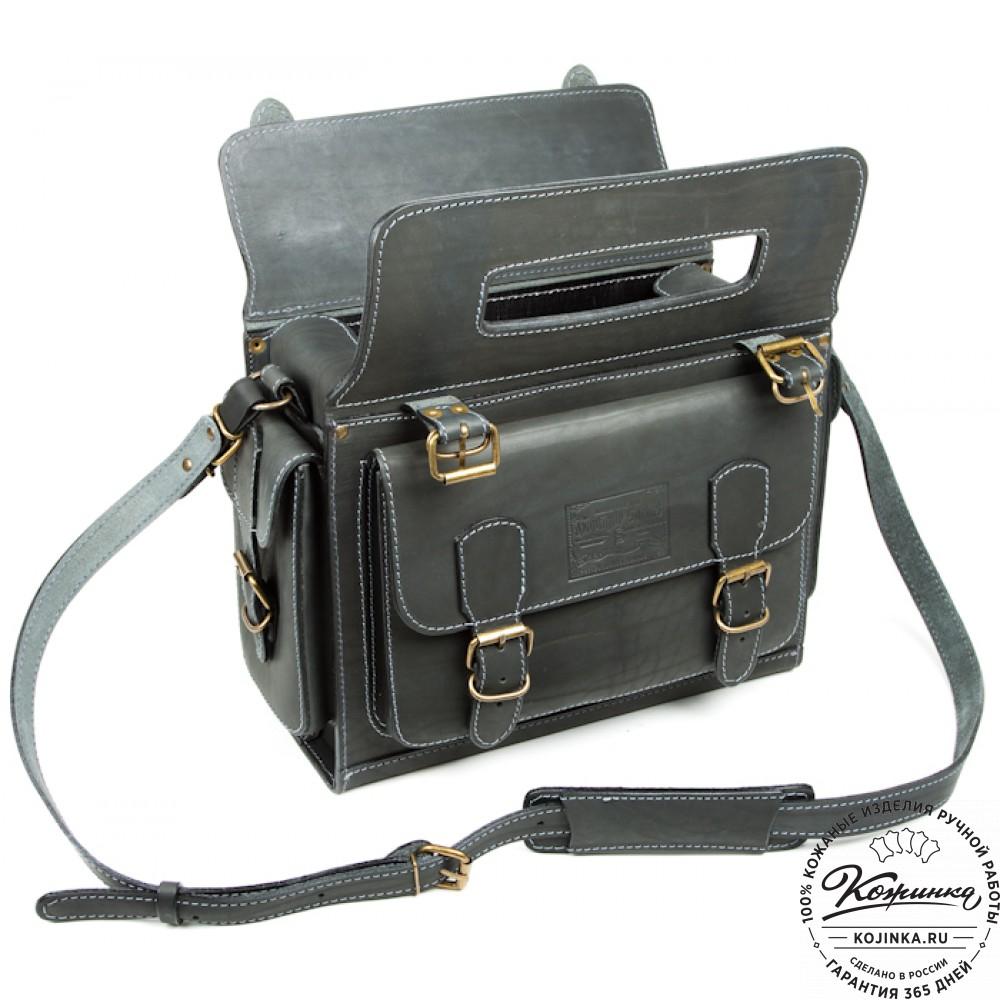 """Кожаный портфель """"Бойскаут"""" (чёрный)"""