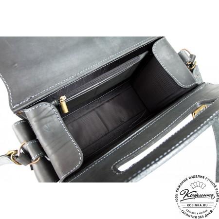"""Кожаный портфель """"Бойскаут"""" (чёрный) - 5"""