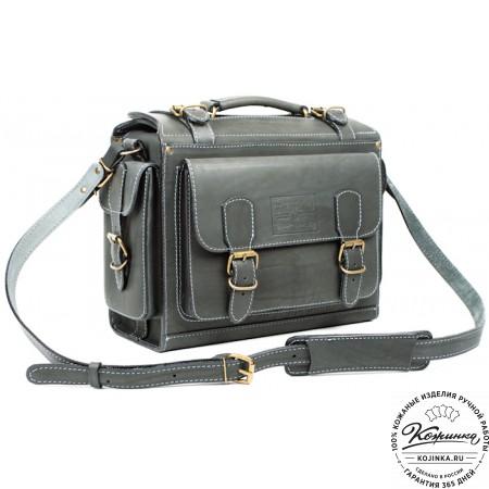 """Кожаный портфель """"Бойскаут"""" (чёрный) - 4"""