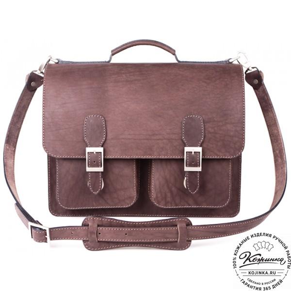 """Кожаный портфель ручной работы  """"Марс""""  (коричневый). фото 1"""