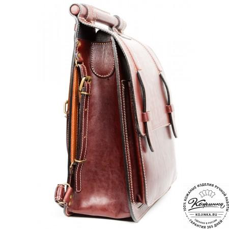 """Стильный кожаный рюкзак """"Кельт"""" (коричневый)"""