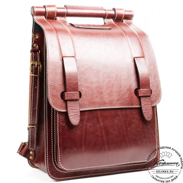 """Стильный кожаный рюкзак """"Кельт"""" (коричневый). фото 1"""