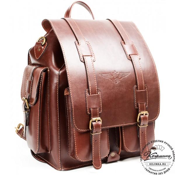 """Кожаный рюкзак """"Пехотинец"""" (коричневый). фото 1"""