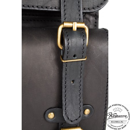 """Мужской кожаный рюкзак """"Легион"""" (чёрный)"""