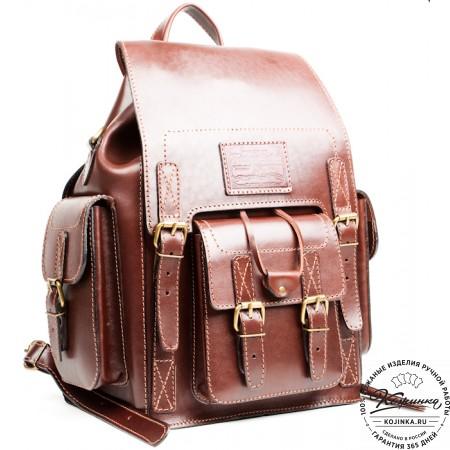 """Кожаный рюкзак """"Кэмэл"""" (коричневый) - 5"""