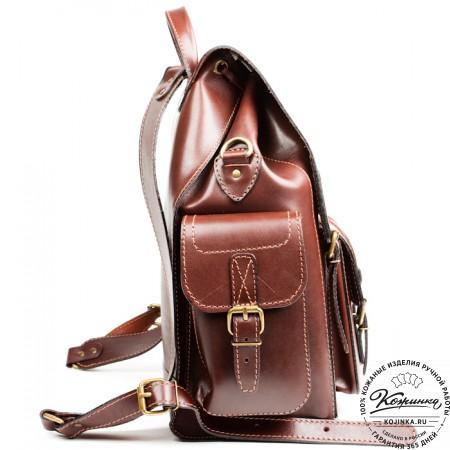 """Кожаный рюкзак """"Кэмэл"""" (коричневый) - 7"""