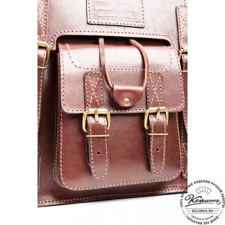 """Кожаный рюкзак """"Кэмэл"""" (коричневый) - 6"""