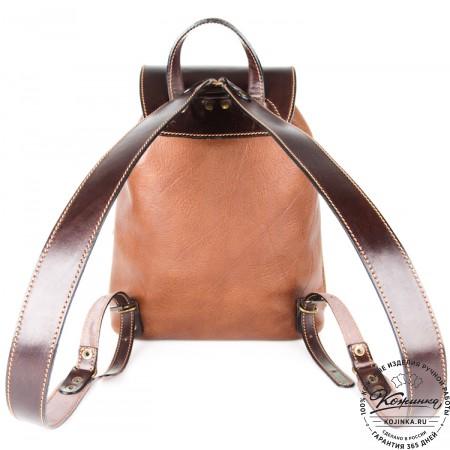 """Кожаный рюкзак """"Пилот"""" (коричневый) - 6"""