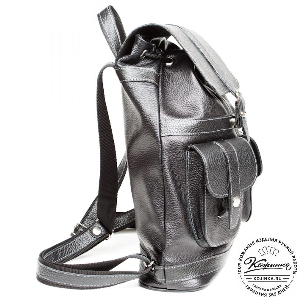 """Кожаный рюкзак """"Классика"""" (чёрный)"""