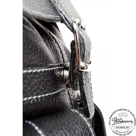"""Кожаный рюкзак """"Классика"""" (чёрный) - 7"""