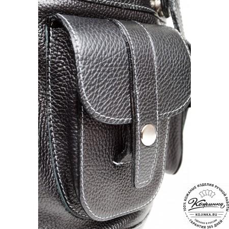 """Кожаный рюкзак """"Классика"""" (чёрный) - 6"""