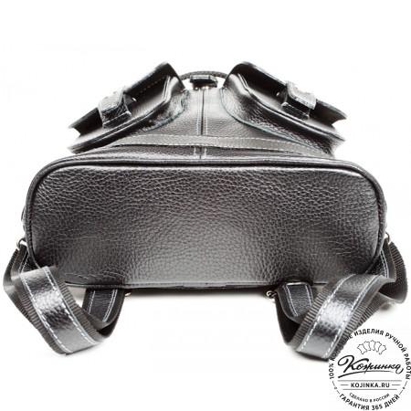 """Кожаный рюкзак """"Классика"""" (чёрный) - 5"""