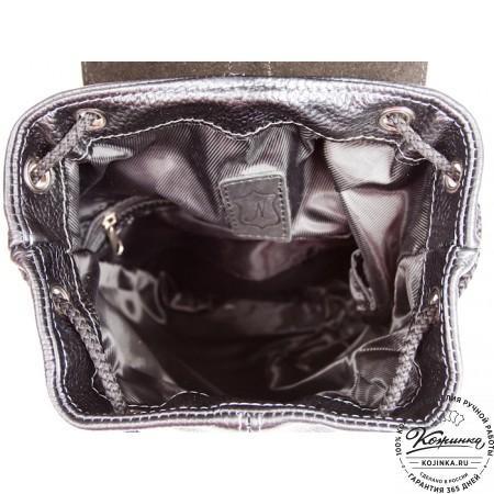 """Кожаный рюкзак """"Классика"""" (чёрный) - 2"""