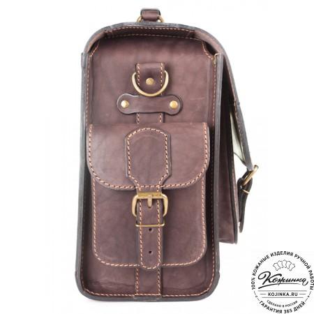 """Кожаный портфель """"Вояджер"""" (коричневый) - 7"""