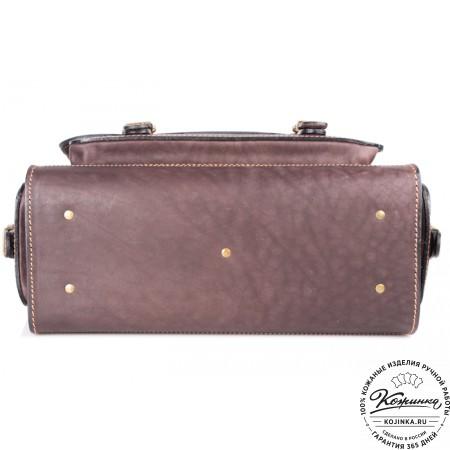 """Кожаный портфель """"Вояджер"""" (коричневый) - 9"""