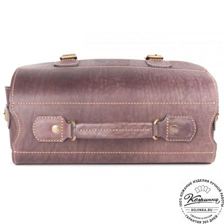 """Кожаный портфель """"Вояджер"""" (коричневый) - 10"""