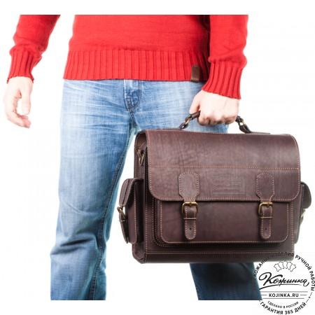 """Кожаный портфель """"Вояджер"""" (коричневый) - 3d модель"""