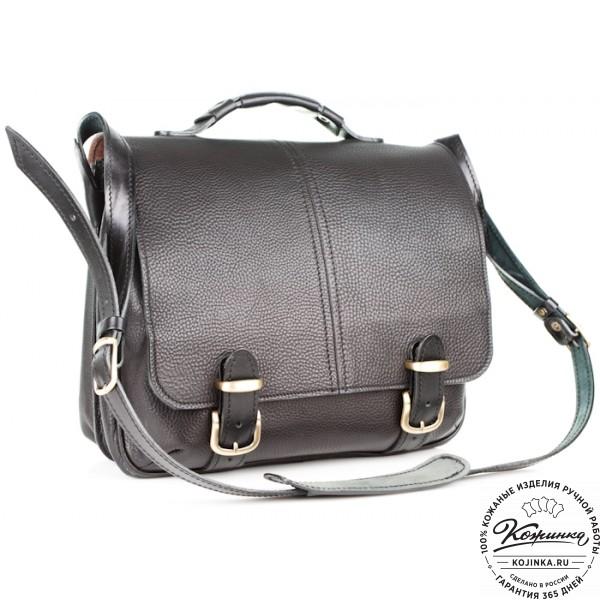 """Кожаный портфель """"Сорбонна"""" (чёрный). фото 1"""