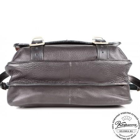 """Кожаный портфель """"Сорбонна"""" (чёрный)"""