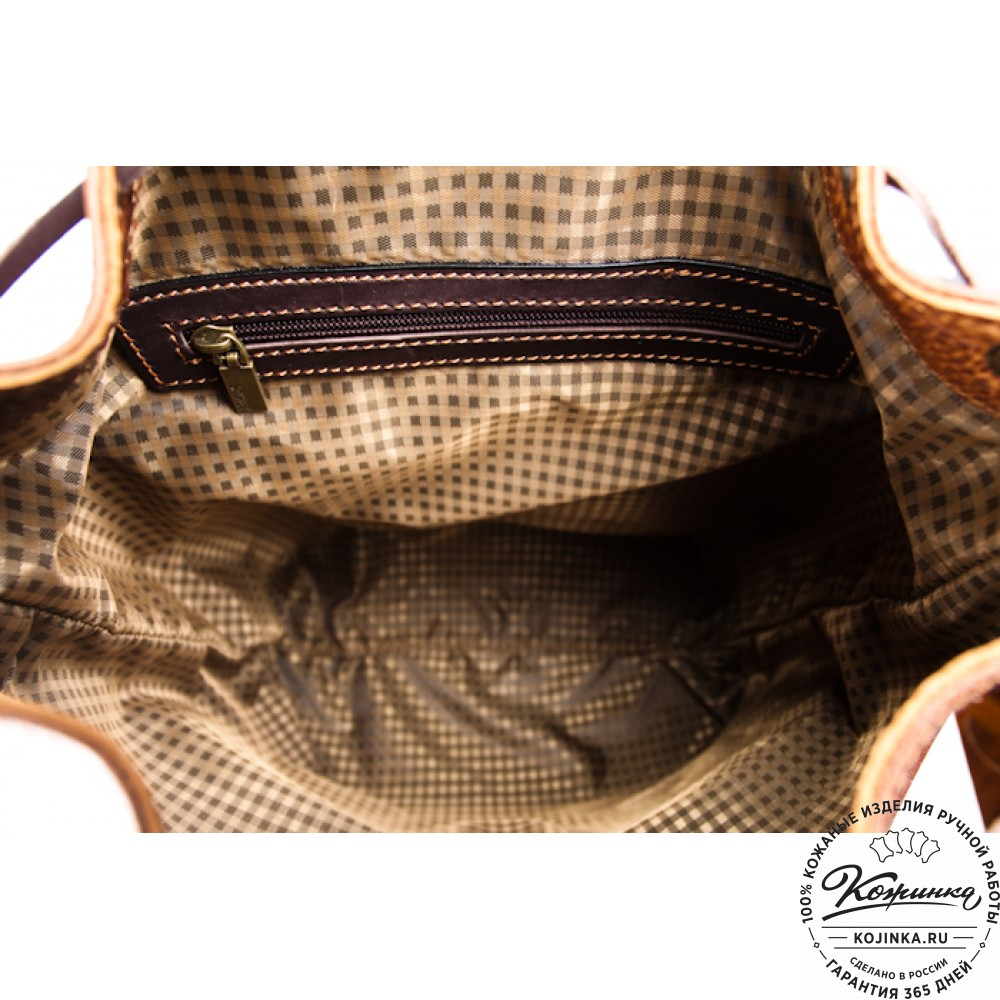 """Кожаный рюкзак """"Классик 2"""" (коричневый)"""