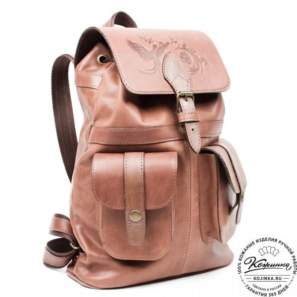 """Кожаный рюкзак """"Ваниль"""". фото 1"""