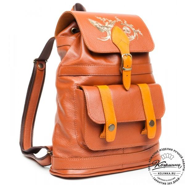 """Кожаный рюкзак """"Карри"""". фото 1"""
