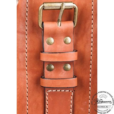"""Кожаный портфель """"Француз"""" (тёмно рыжий) - 10"""