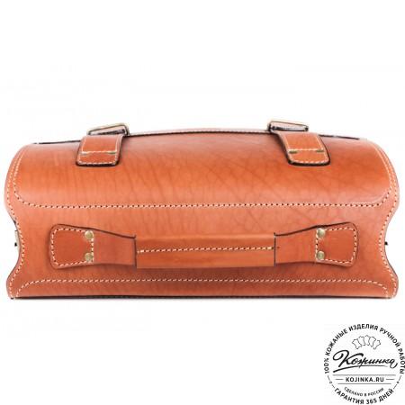 """Кожаный портфель """"Француз"""" (тёмно рыжий) - 12"""