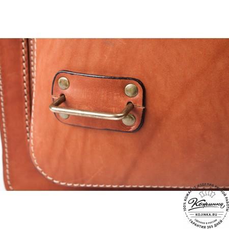 """Кожаный портфель """"Француз"""" (тёмно рыжий) - 3"""