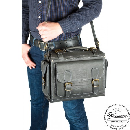 """Кожаный портфель """"Бойскаут"""" (чёрный) - 3d модель"""