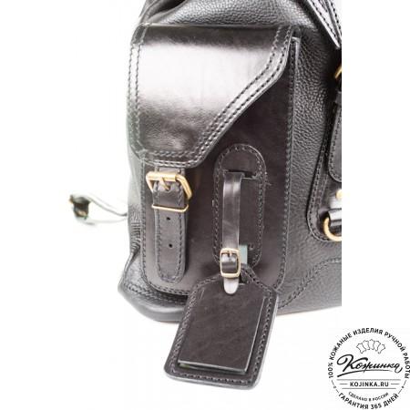 """Кожаный рюкзак """"Стиль 1"""" (чёрный) - 3"""