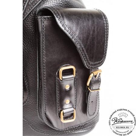 """Кожаный рюкзак """"Стиль 1"""" (чёрный) - 9"""