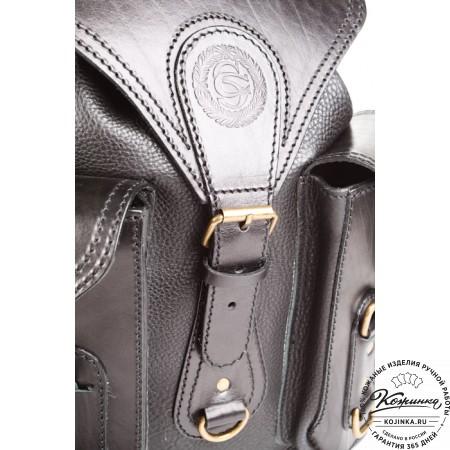 """Кожаный рюкзак """"Стиль 1"""" (чёрный) - 7"""