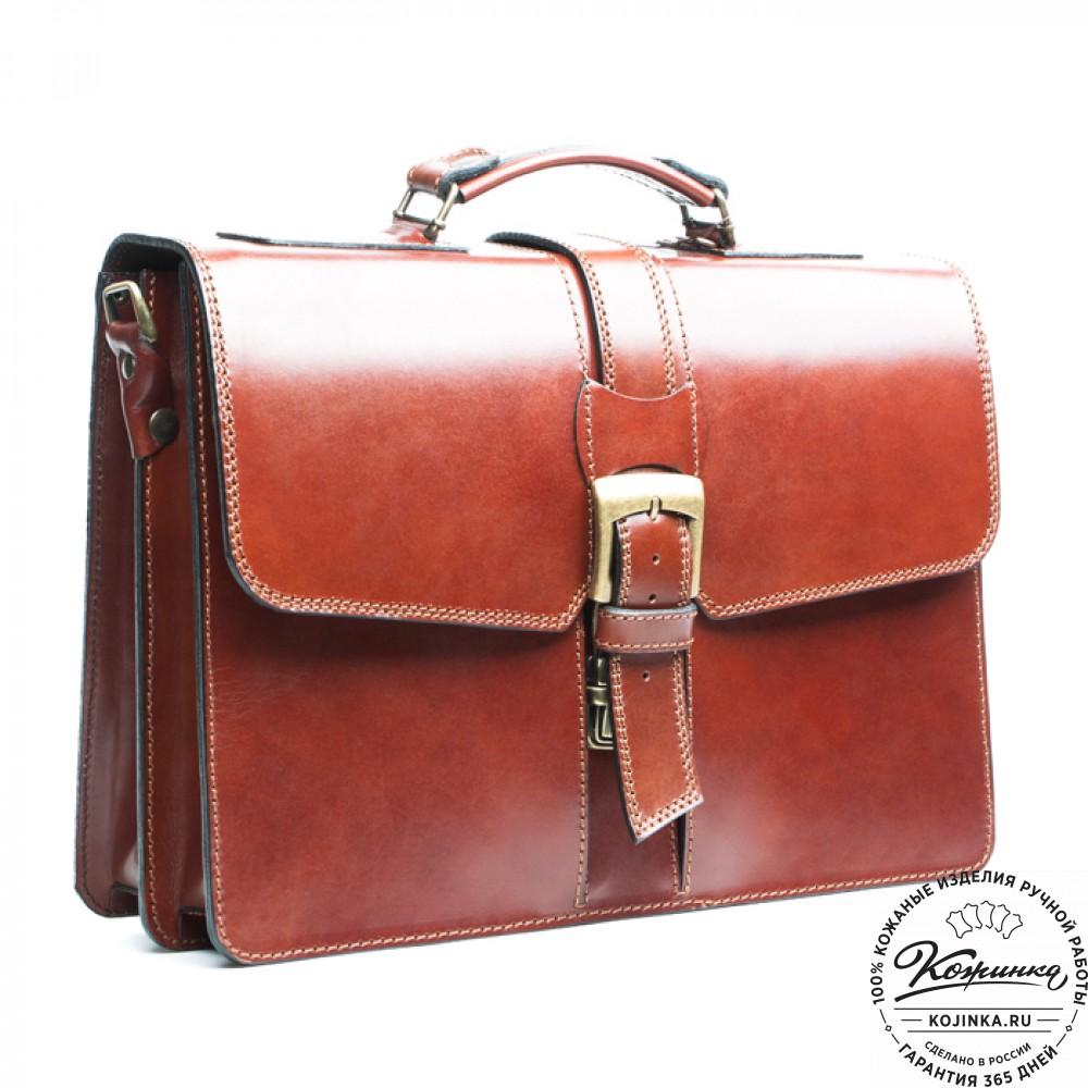 ee648405bf20 Кожаный портфель ручной работы