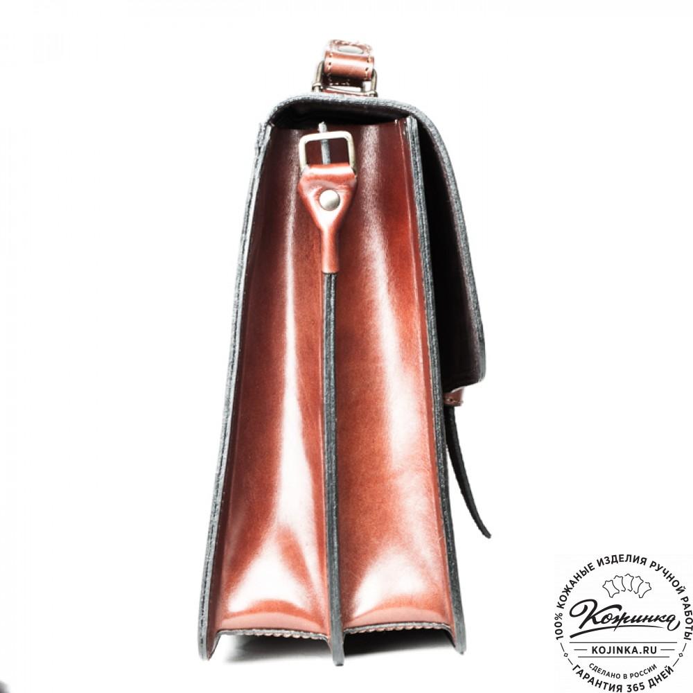 """Кожаный портфель ручной работы """"Директор"""" (тёмно-рыжий)"""