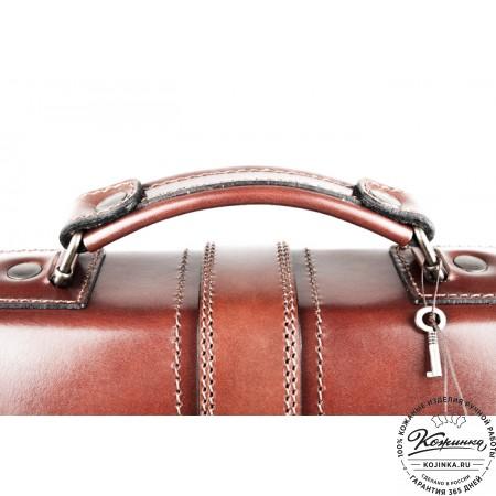 """Кожаный портфель ручной работы """"Директор"""" (тёмно-рыжий) - 9"""