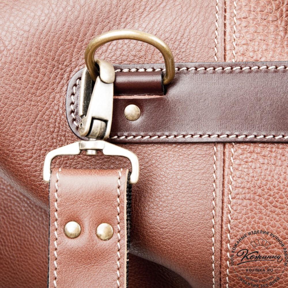 Кожаная дорожная сумка (коричневая)