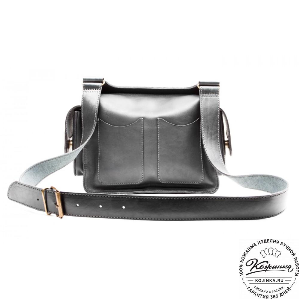 """Кожаная сумка """"Франциско"""" (черная)"""